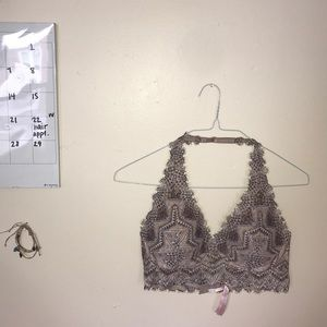 PINK Lightly Lined Lace Bralette